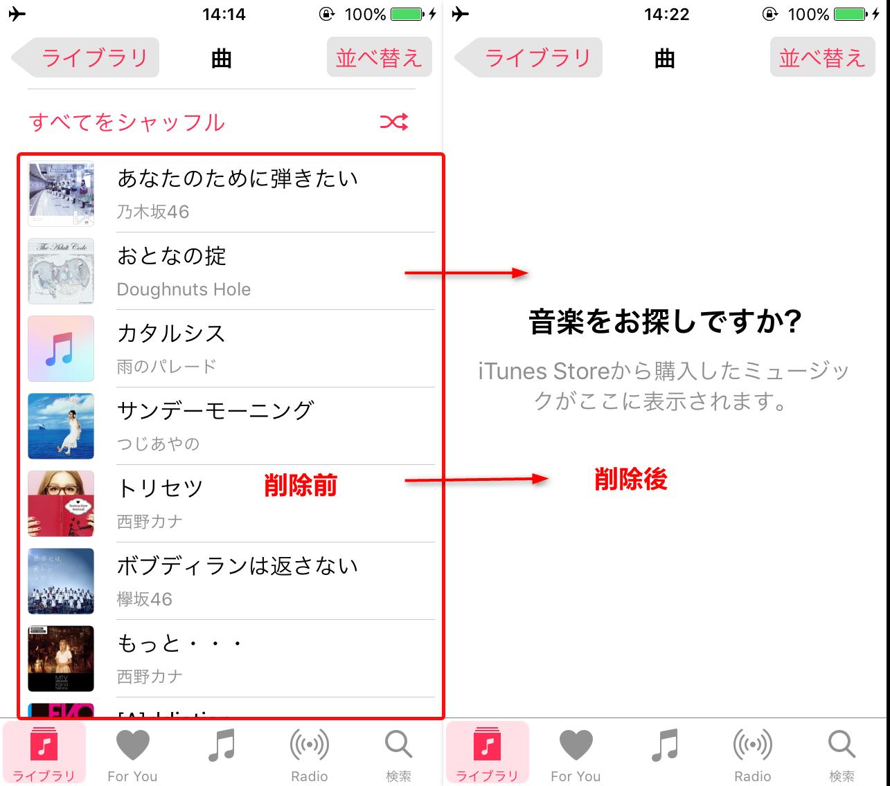 ステップ3:iPodの要らない曲を削除する