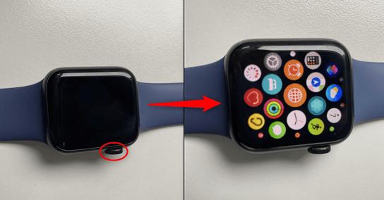 Watchをアプリ並ぶ画面にする