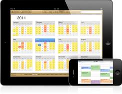 iPadからiPhoneへカレンダーを同期する