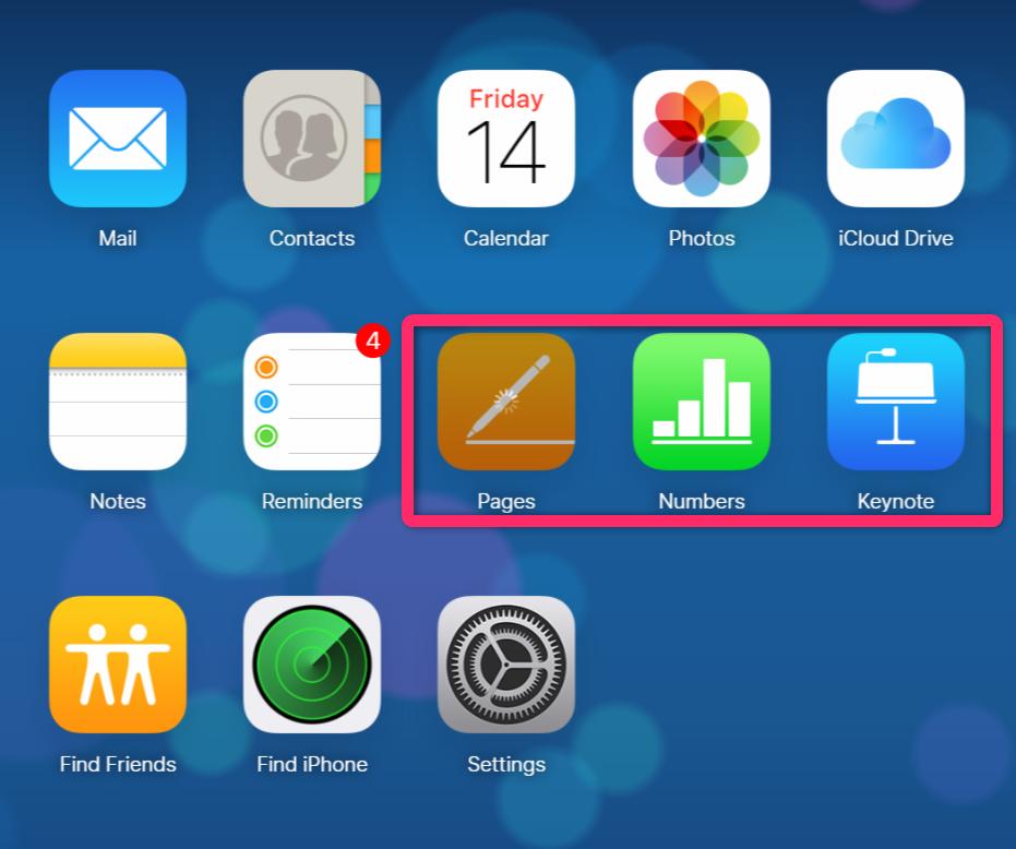 無料なiWork for iCloud機能を使う