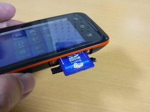 Androidのいいところ-SDカードが使える