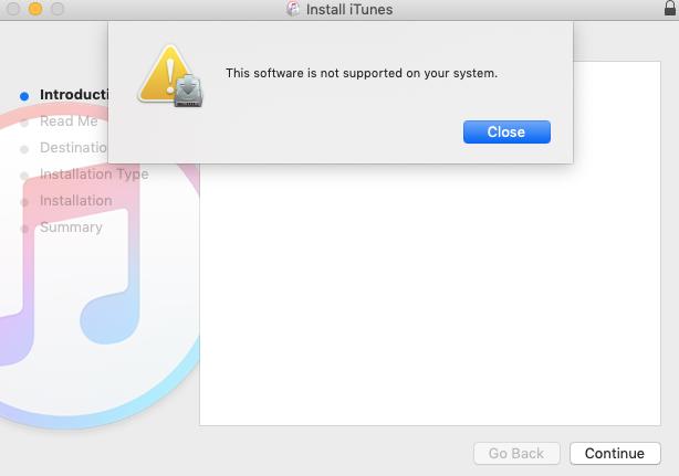 iTunes 12.6をインストールすることを試す