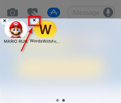 iOS 10でiMessageのゲームをアンインストールする
