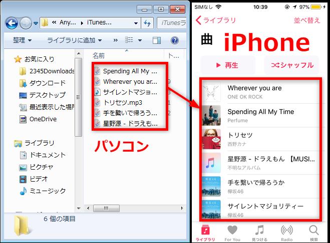 iTunesより簡単なiPhoneへの音楽の入れ方