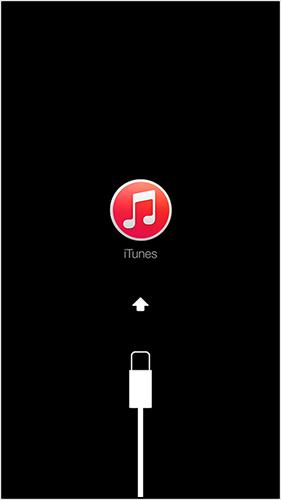 iTunesに接続の画面が表示される