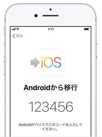 AndroidからiPhoneにデータを移行したい場合 - Android 端末にコードを入れる