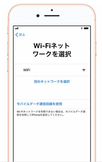 新iPhoneとして利用したい場合 - ネットワークを選択する