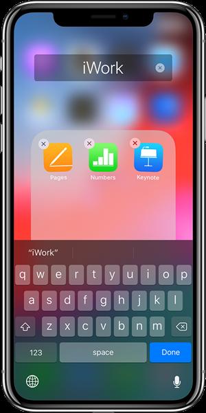 iPhoneアプリフォルダを作成する方法