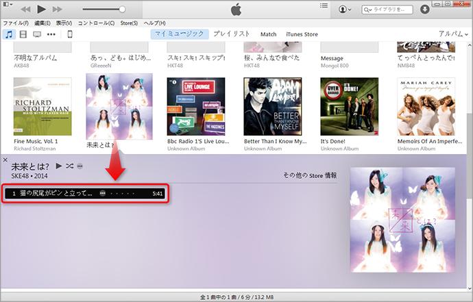 iTunes 12で特定の曲を選択する