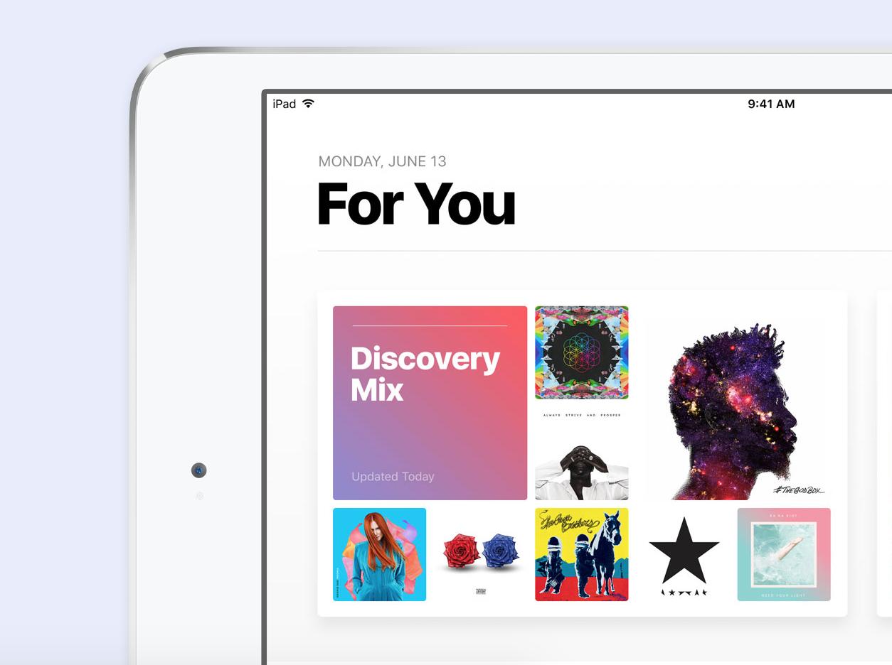 iOS 10の新機能- Apple Musicアプリのデザインの変更