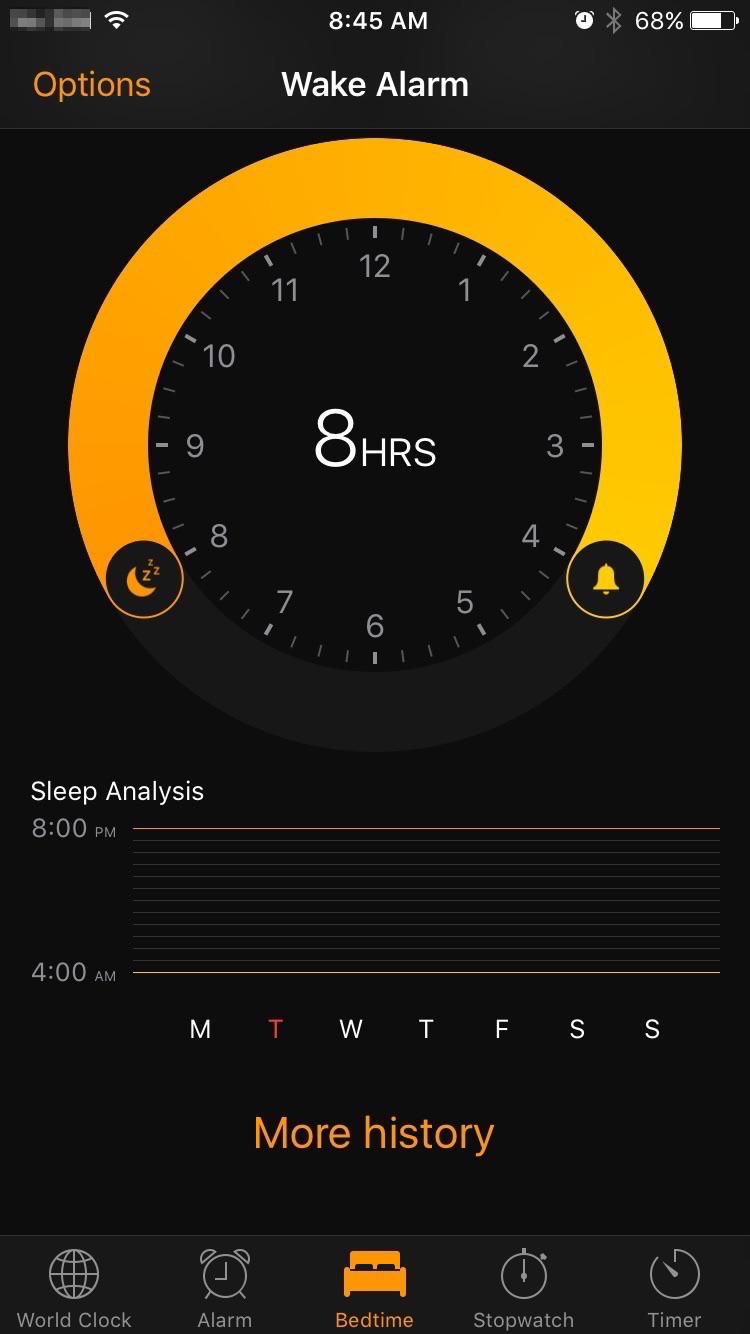 iOS 10の新機能- Bedtime