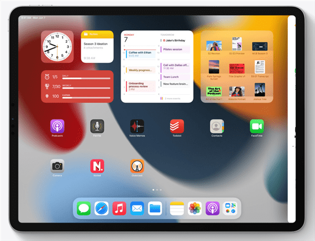 Slide OverとSplit Viewの機能強化 写真元:Apple