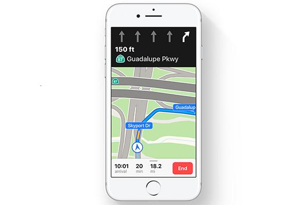 iOS 11の3D表示されるマップ