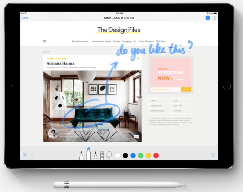 iOS 11の新機能・変更点:使いやすいApple Pencil