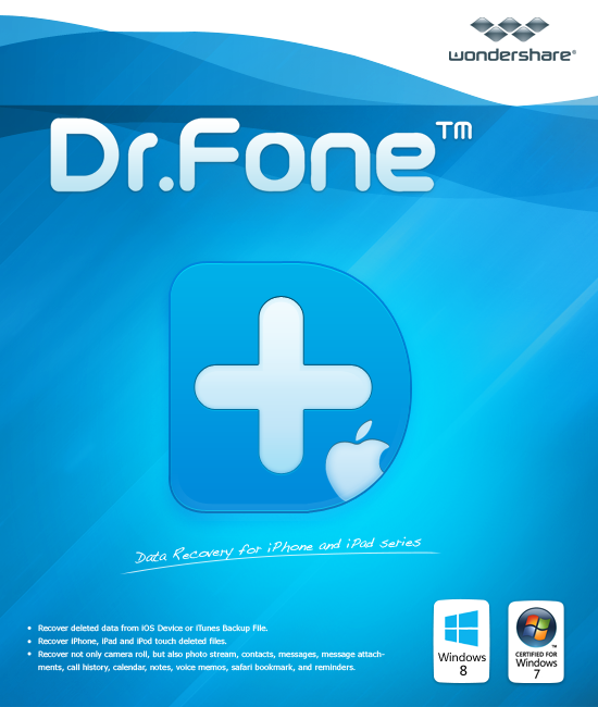 iPhoneのデータ復元ソフト -  Dr.Fone for iOS Suite