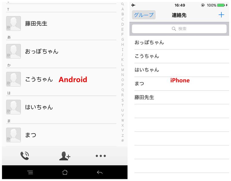 AndroidからiPhoneに電話帳を移行する方法