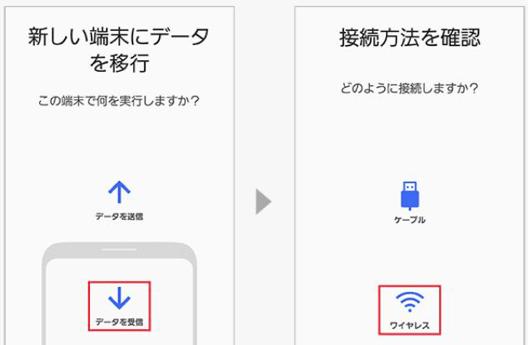 写真元:galaxymobile.jp - Smart Switch でデータ移行