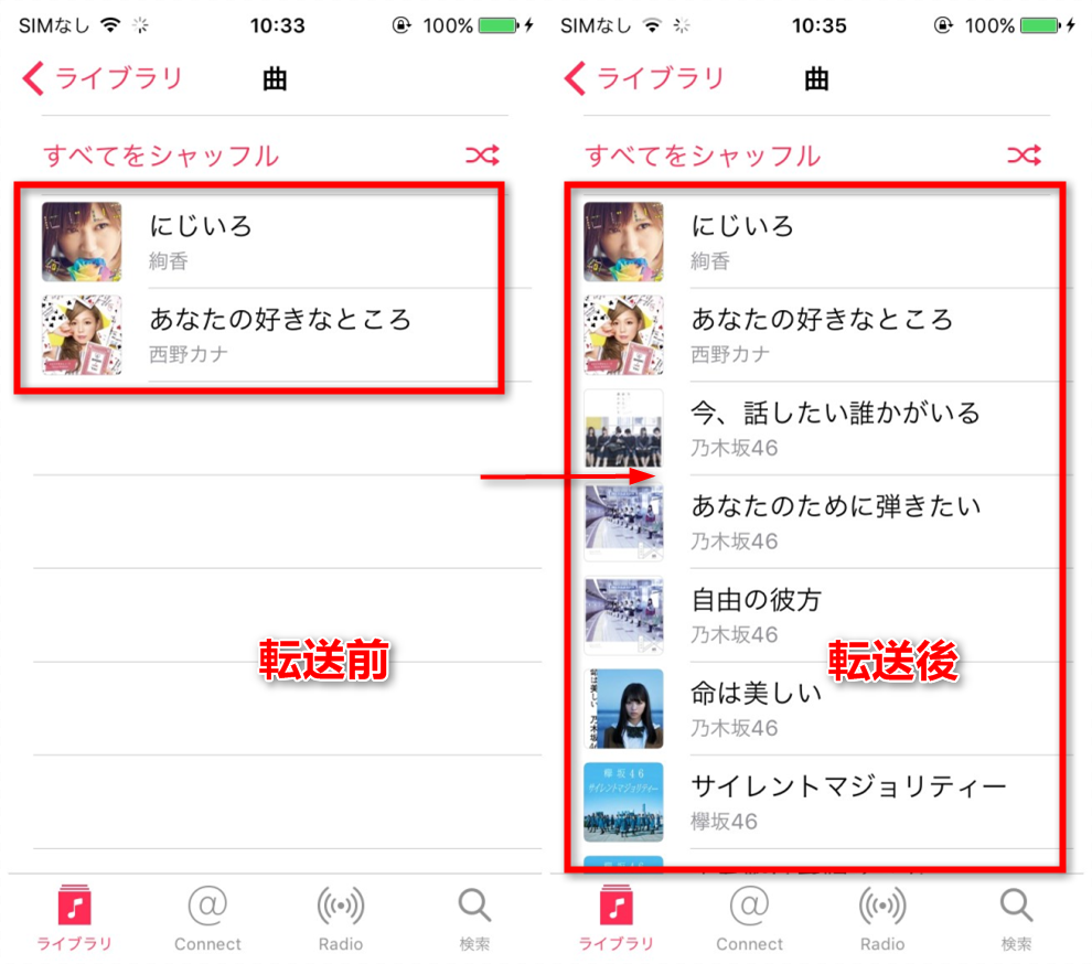 AnyTrans for iOSでiTunesからiPhoneに音楽を入れる