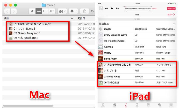 AnyTransでMacの音楽をiPadに入れる