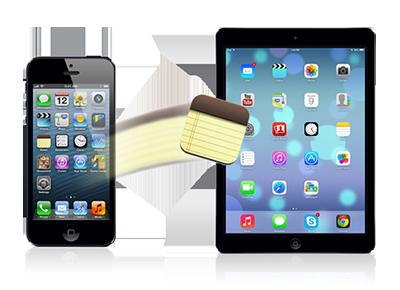 iPhoneからiPadにメモを移行する
