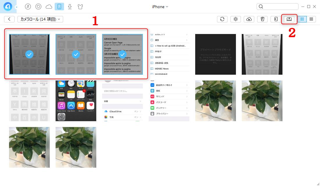 ステップ4:AnyTransでiPhoneの写真をSDカードに保存する