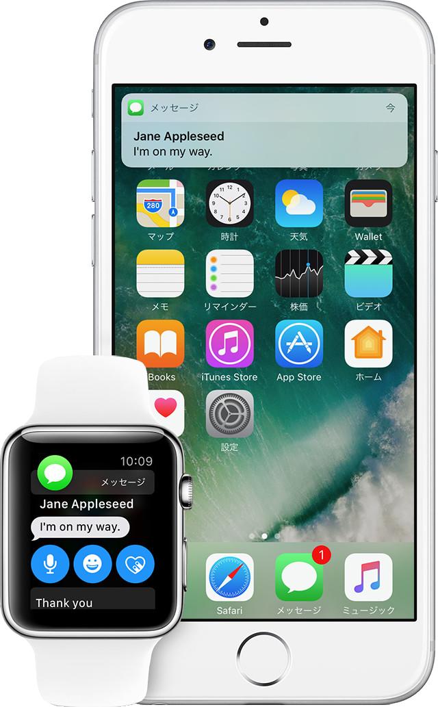 Apple Watchでできること - 通知確認